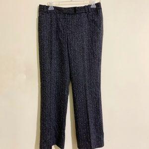 Talbots Signature Flare Gray Herringbone Pants